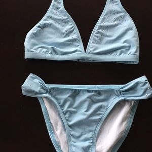 Baja blue Baby Blue Bikini with Coverup